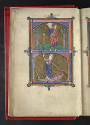 St. Christopher And St. Margaret, In 'The Grandisson Psalter'